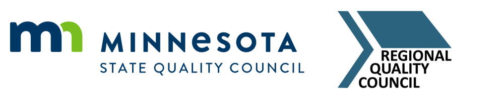 Combination logos of Minnesota State Quality Council and Regional Quality Council